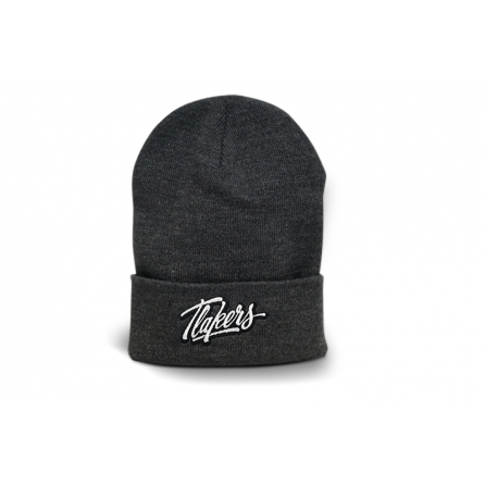 Tlakers zimná čiapka logo tmavosivá