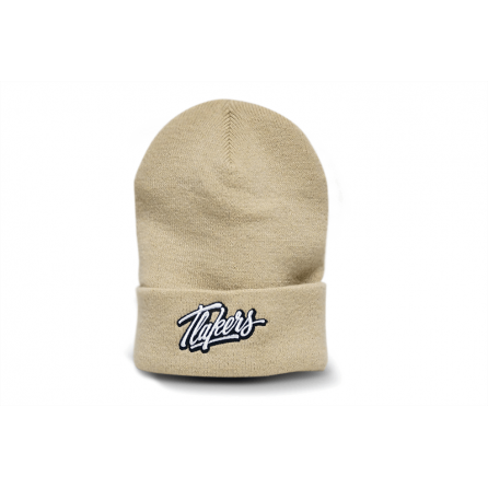 Tlakers zimná čiapka logo hnedá
